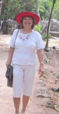 Walking into Chichen Itza on morning of 12-21-12