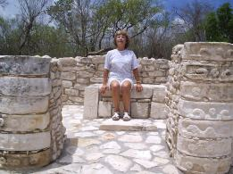 Throne just made to my size, Mayapan, Yucatan