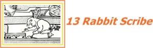 Rabbit_scribe logo color
