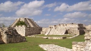 Central Square at Mayapan - Quadripartite Pattern
