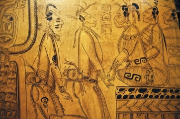 Mayan Women Rulers receiving homage and tribute