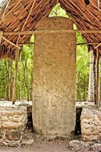 Stela 1 at Coba, Quintana Roo, Mexico
