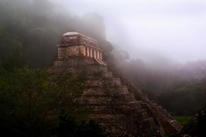 Temple of the Inscriptions, Palenque Chiapas, Mexico