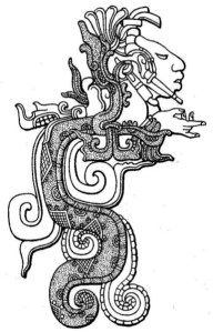 Vision Serpent Head of Ancestor Emerging from Jaws