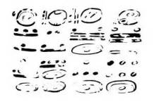 Lunar series glyphs with dot-and-bar numbers
