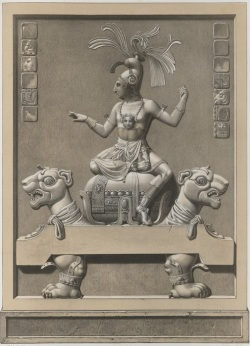The Beau Relief drawn by Jean-Frederic Waldeck