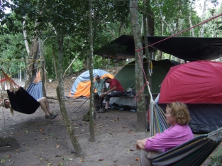 Hammocks and tent camp
