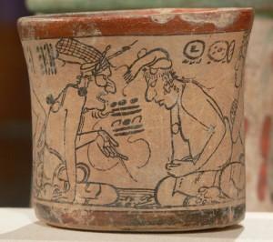 Maya Codex style ceramic
