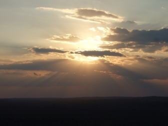 Sunset from top of El Tigre pyramid