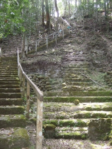 Stairs to La Danta platform