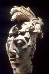 K'inich Janaab Pakal Ruler of Palenque 615-683 CE Portrait carved in limestone