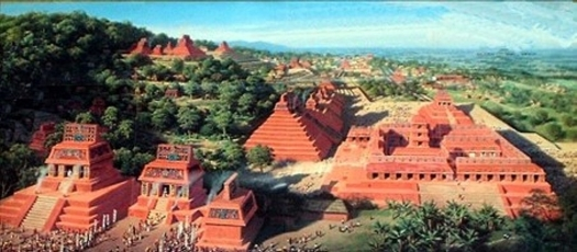 Lakam Ha (Palenque) as it appeared in 650-750 CE Original source National Geographic