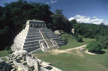 Temple XIII at Palenque (c.1990) Situated between Temple of the Inscriptions and Temple of the Skull