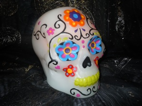 Photo of decorated skull