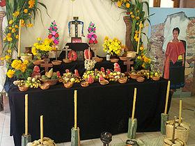 Mexican Dia de Los Muertos Altar