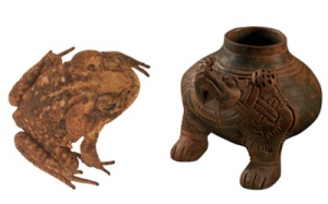 Bufo Toad with ceramic depiction