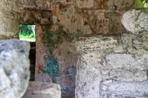 Ix Chel shrine with mural remnants