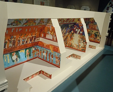 Cut-away Model of Three Chambers in Bonampak Murals