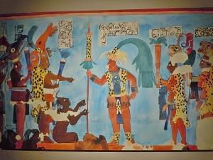 Murals at Bonampak Ruler and Captives