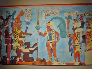 Murals at Bonampak Ruler and Captives