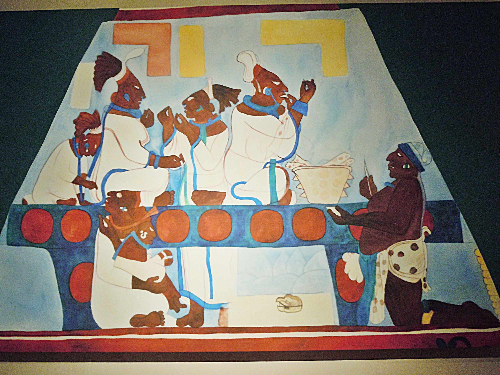 Leonide martin 39 s blog lennie 39 s blog maya exhibit for Bonampak mural painting