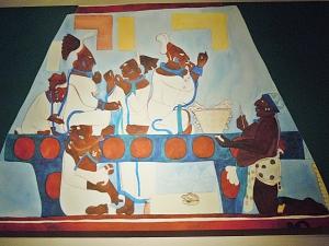Murals at Bonampak Women Performing Self-Bloodletting