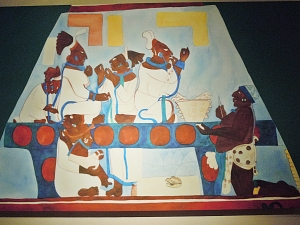 Murals at Bonampak Women Performing Self-Bloodletting