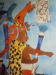Murals at Bonampak Maya Ruler