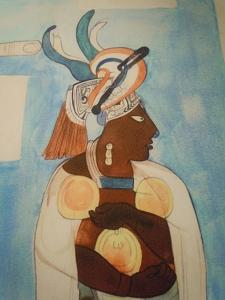 Murals at Bonampak Lord Wearing Solar Disk