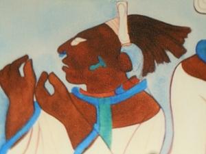 Murals at Bonampak Royal Women