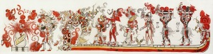 San Bartolo Mural Redrawn from Heather Hurst by National Geographic