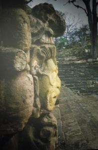 Mask in Profile facing plaza