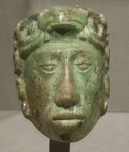 Small Jade Mask of Maya Noble