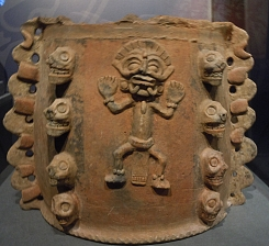 Clay Vase with Effigy