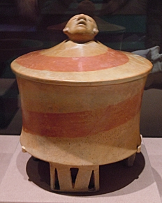 Tripod Vase with Human Head, Teotihuacan