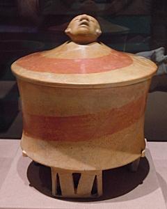 Tripod Vase with Human Head, Teotihuacan