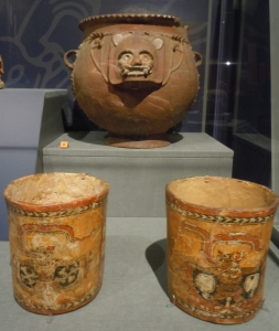Polychrome Cups and Decorated Bowl