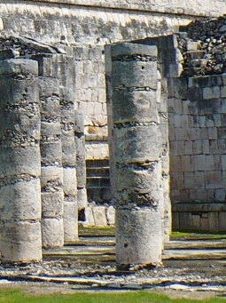 Columns using Maya concrete Chichen Itza Temple of Warriors