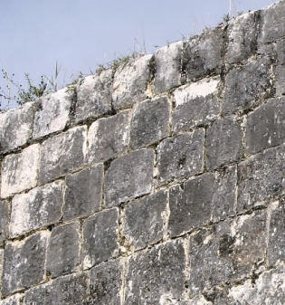 Wall using Maya concrete Chichen Itza Ballcourt