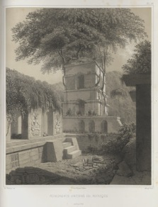 Waldeck drawing of Palace Tower