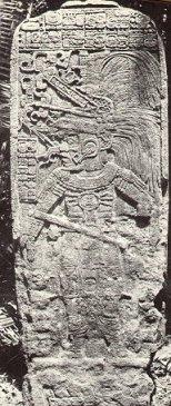 Maler photo of stela at Seibal