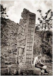 Maudslay photo of stela at Copan