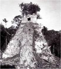 Maudslay photo of Temple I at Tikal