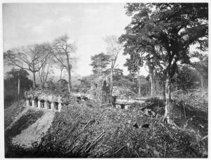 Palace at Palenque in 1980, Maudslay photo