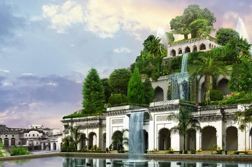 Picture of hanging gardens of Babylon