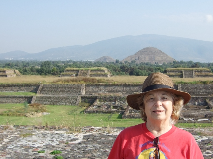 Photo of author at Teotihuacan