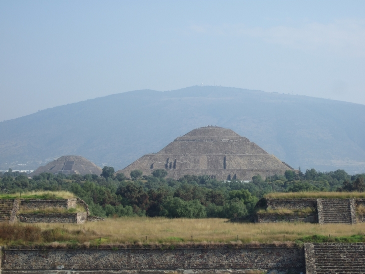 Two pyramids at Teotihuacan,