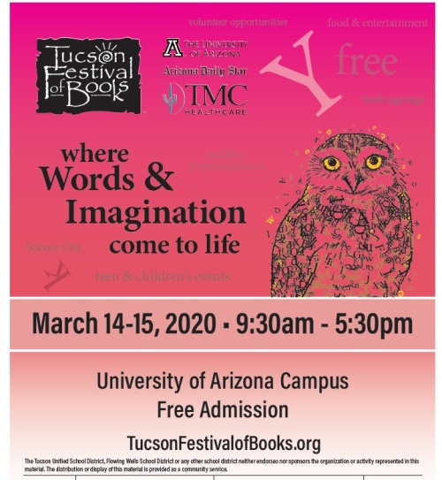 Flyer for 2020 Tucson Festival of Books
