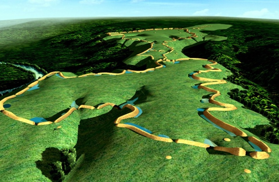Model of Hopewell Earthworks